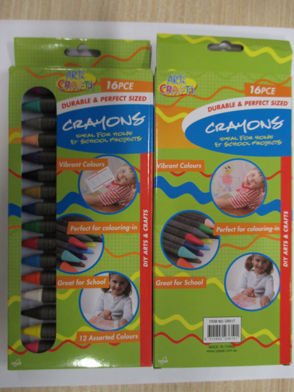 Photograph of the Arti Crafti 16 piece crayons