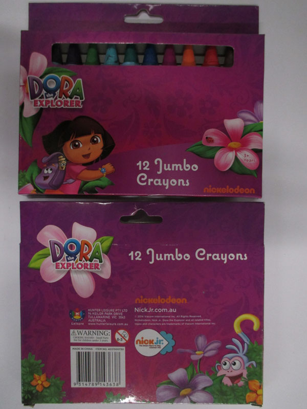 Photograph of the Dora the Explorer Jumbo crayons