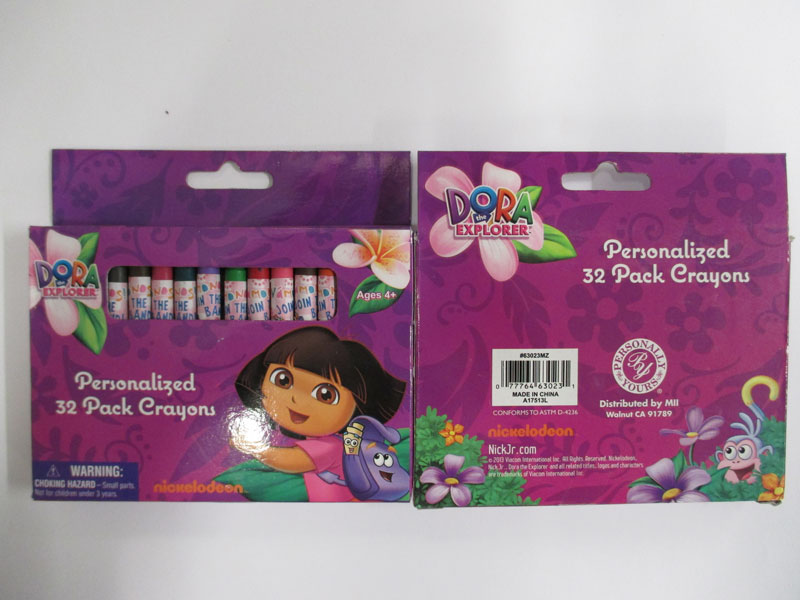 Photograph of the Dora the Explorer Personalized 32 pack crayons