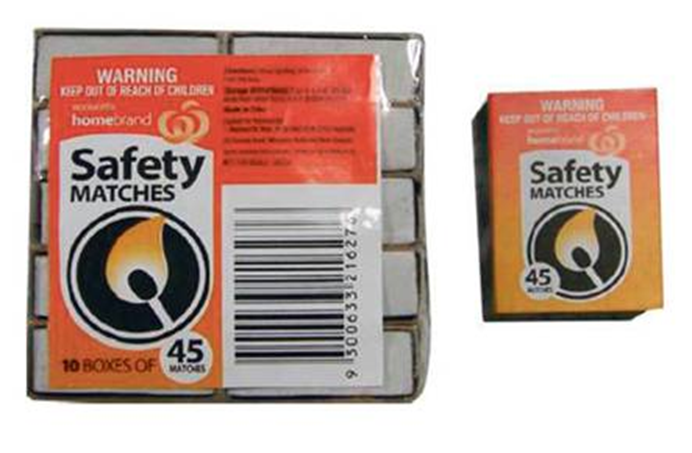 Picture of Homebrand Safety Matches (10 boxes per pack)