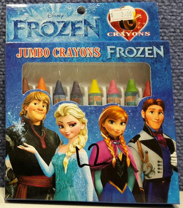 Photographof the Disney 'Frozen' Jumbo Crayons