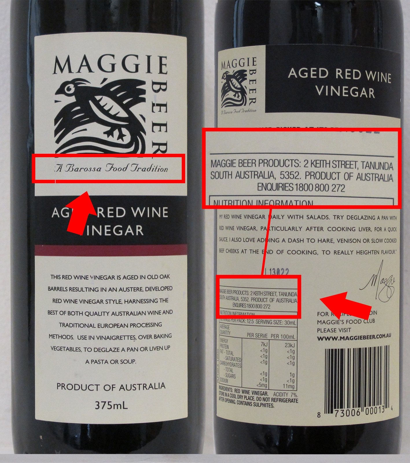 Maggie Beer Products Aged Red Wine Vinegar