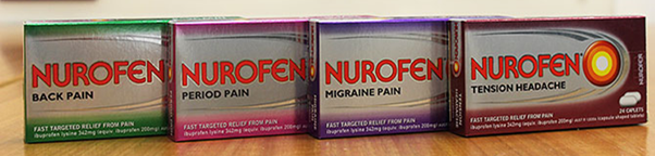 The Nurofen specific pain products