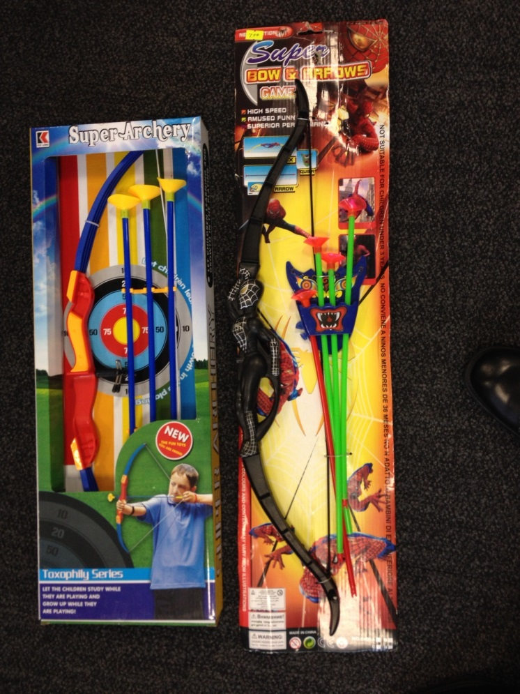 Super Archery projectile toy and Super Bow and Arrow Game projectile toy