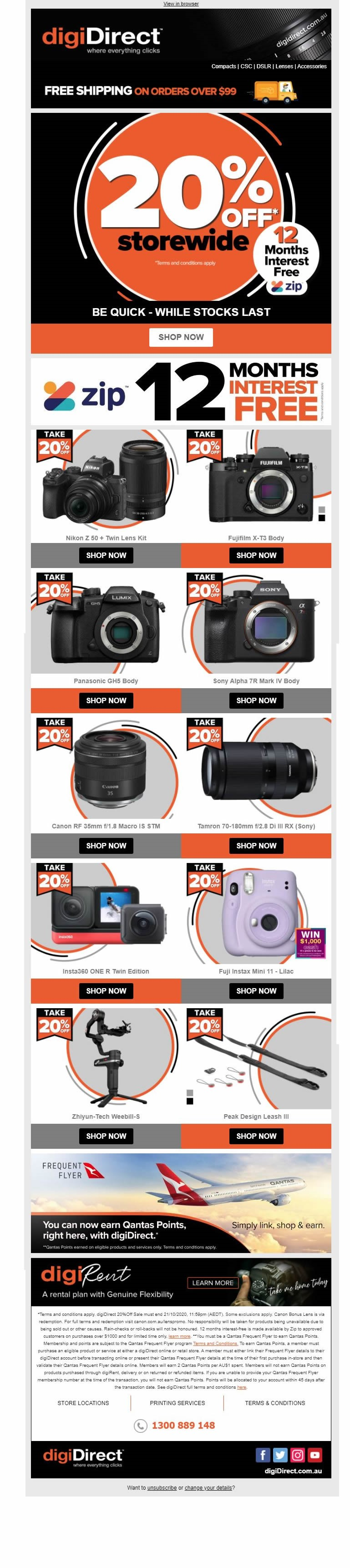 digiDirect storewide promotions