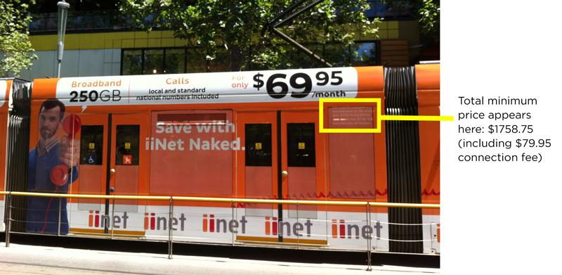 iiNet tram advertisement