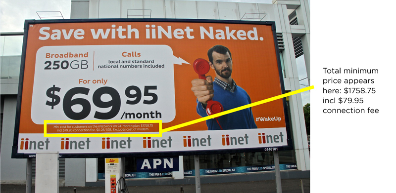 iiNet billboard advertisement