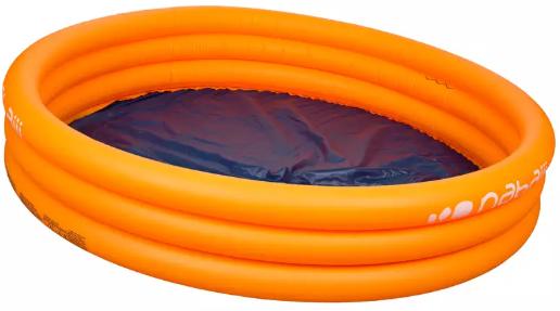 image of Nabaiji brand, inflatable circular pool 152/37cm, orange