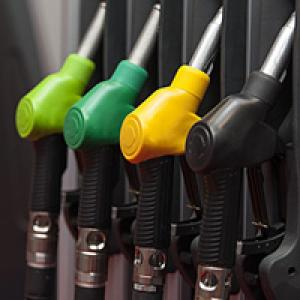 Petrol pumps in service station