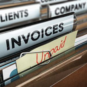 Folder of unpaid invoices