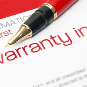 Warranties paperwork