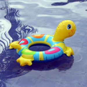 Childrens flotation device in pool