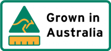 Country of origin Grown in Australia label