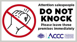 photograph relating to Please Knock Sign Printable known as Doorway toward doorway - do not knock signal ACCC