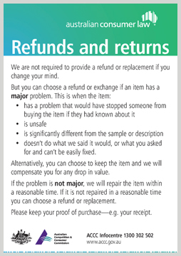 Refunds Amp Returns Accc