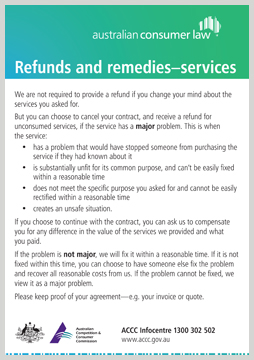 Refunds Amp Remedies Accc