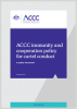 ACCC immunity & cooperation policy for cartel conduct - October 2019