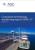 Container stevedoring monitoring report 2016-17